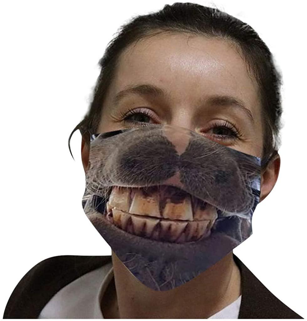 Unisex Funny 3D Print Cloth Macks Outdoor Sports Breathable Face Health Bandanas