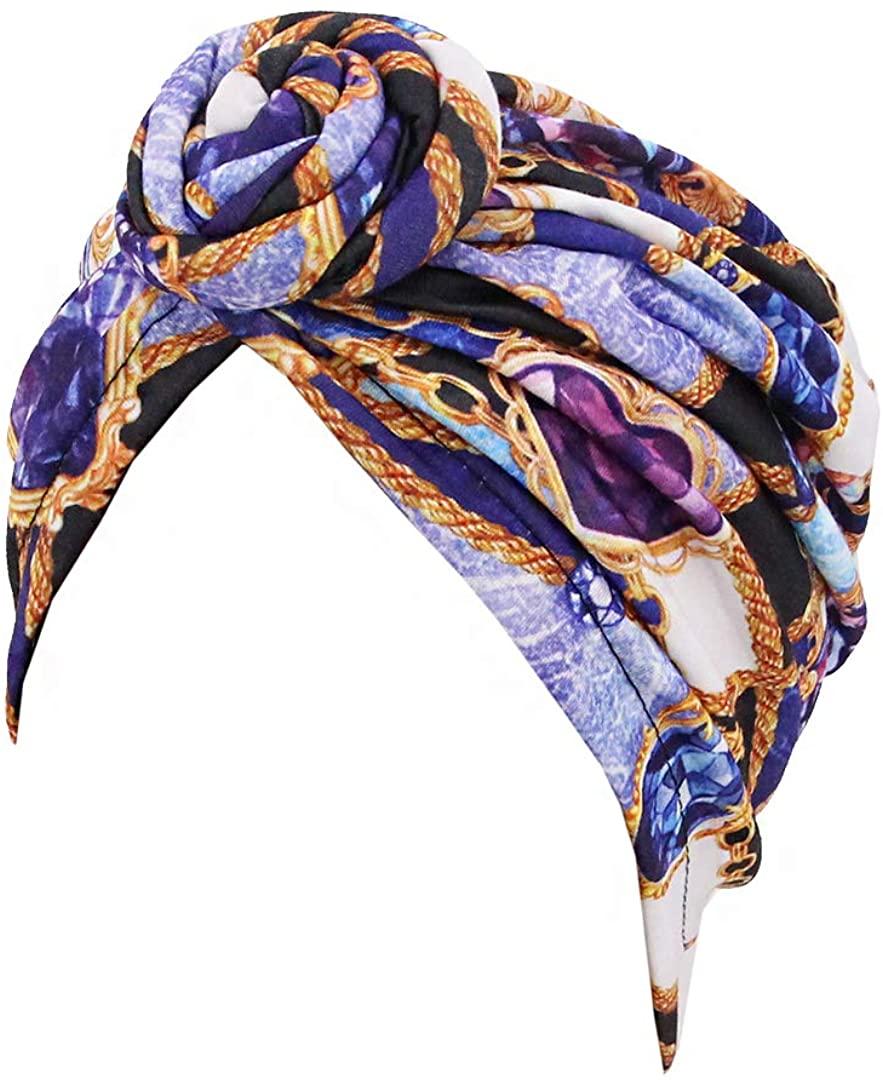 Surkat Pleated Twist Turban Chemo Cap Hairwrap Headwear Beanie Hair Scarf Boonie Cap for Women