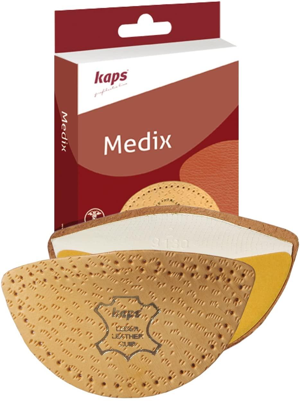 Longitudinal Arch Support Men Women - Sheep Leather Orthotic Medix Wedge Shoe Insoles Inserts (M11-13 US)