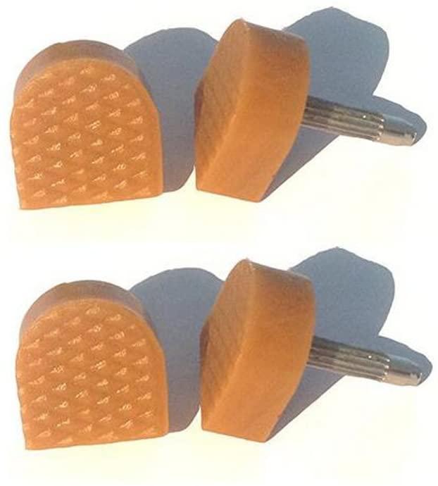 6 Pairs Lady Women Non-Slip Heel Cap Shoe Replacement Heel Tip Replacement Dowels Shoe Repair Tip High Heel Cap Protectors(Beige 9mm x 9mm)