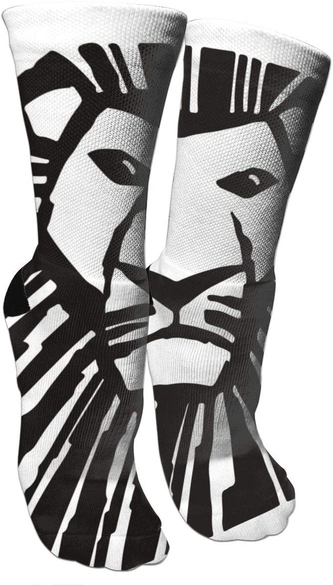 antspuent The King of Lion Compression Socks Unisex Fun Novelty Crazy Dress Crew Socks