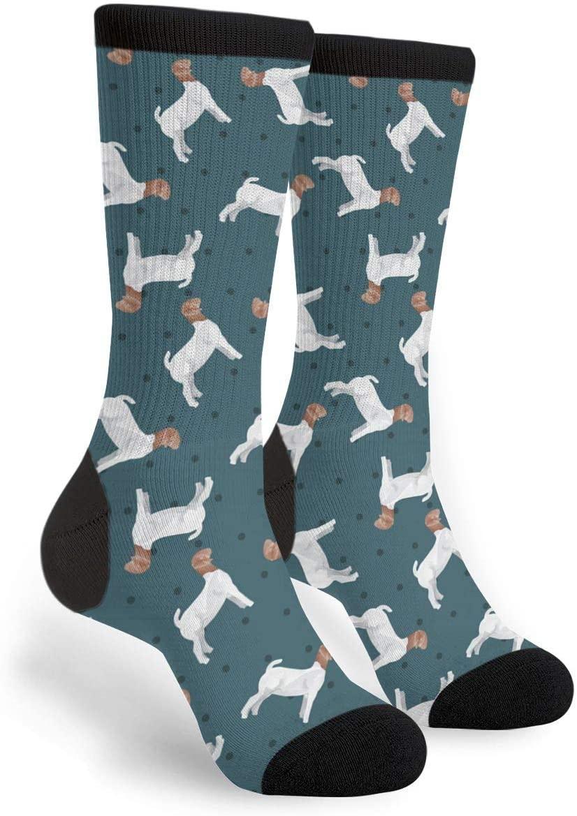 NGFF Polka Dot Boer Goat Men Women Casual Crazy Funny Athletic Sport Colorful Fancy Novelty Graphic Crew Tube Socks