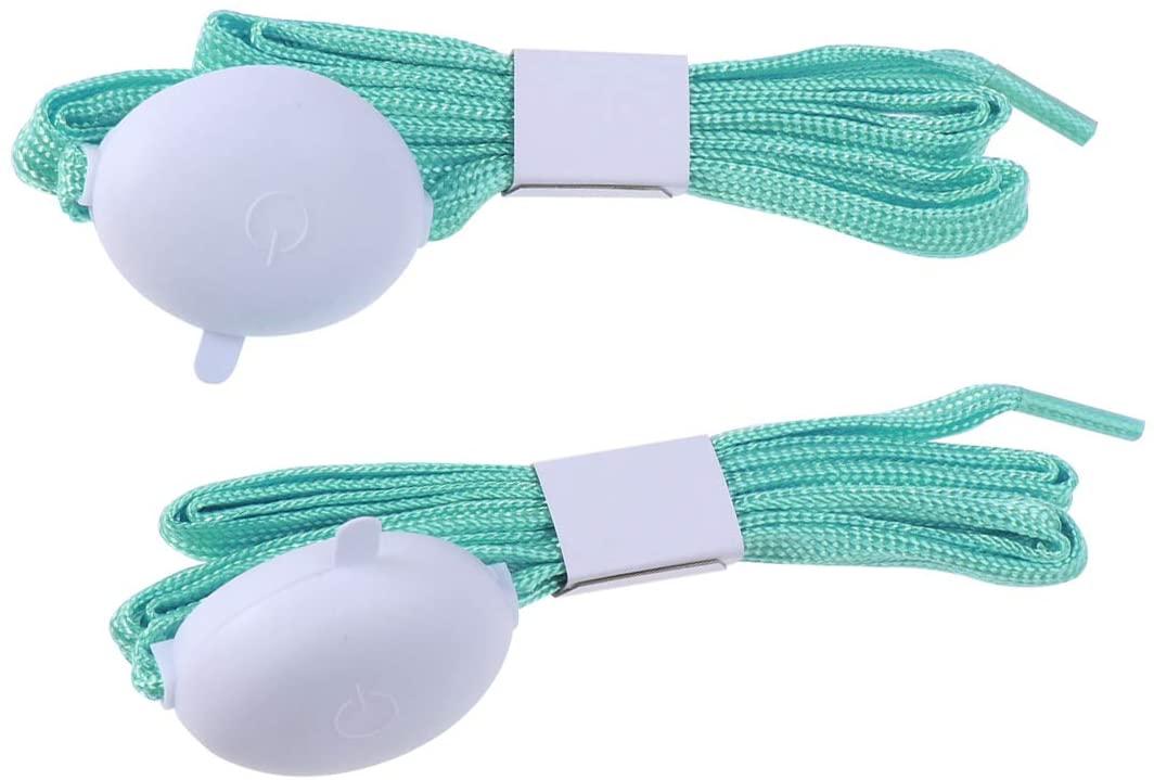 LIOOBO 1 Pair LED Shoelaces Light up Shoe Laces Flashing Modes Disco Dancing (Blue)