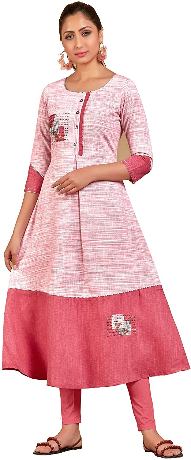 kfgroup Women's Cotton Anarkali Kurti and kurta for women