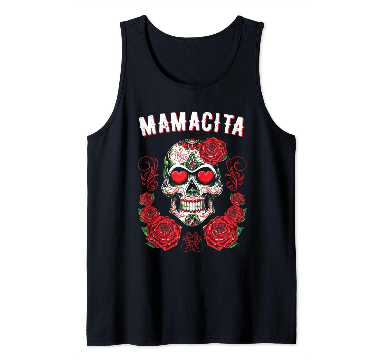 Sugar Skull Shirt For Women Dia De Los Muertos Mamacita Tank Top