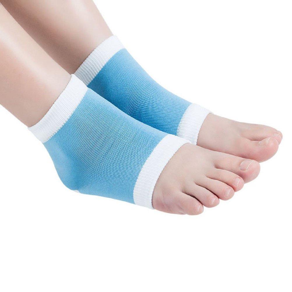 PIXNOR GEL Heel Socks for Dry Hard Cracked Skin Moisturising Open Toe Comfy Recovery Socks