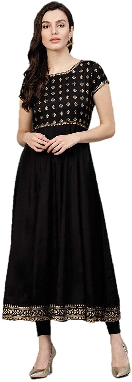 Indian Kurtis for Women Designer Viscose Rayon Anarkali A-Line Kurta Tunic Tops Ready To Wear
