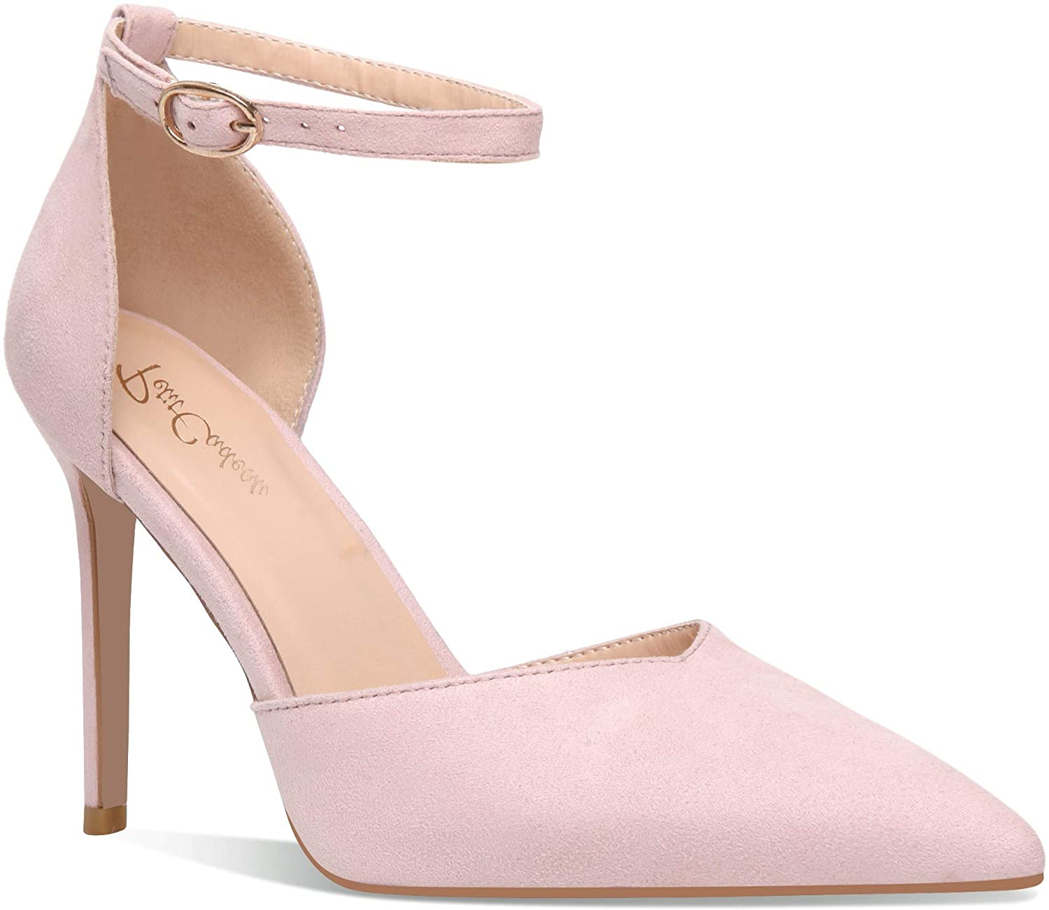 Carolyn - Women's Elegant, Sexy and Feminine Pointed Toe D'Orsay Pumps with 4