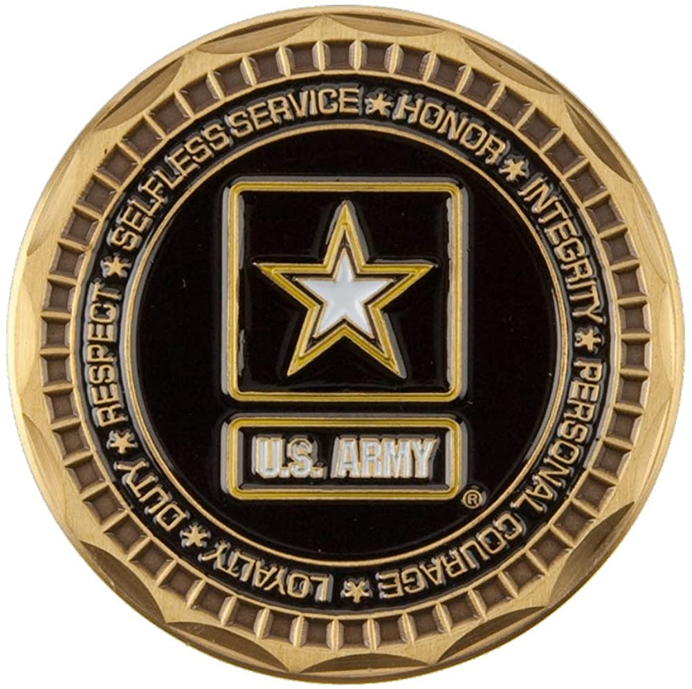 U.S. Army Saying Coin (2) - Black Once W01S25F