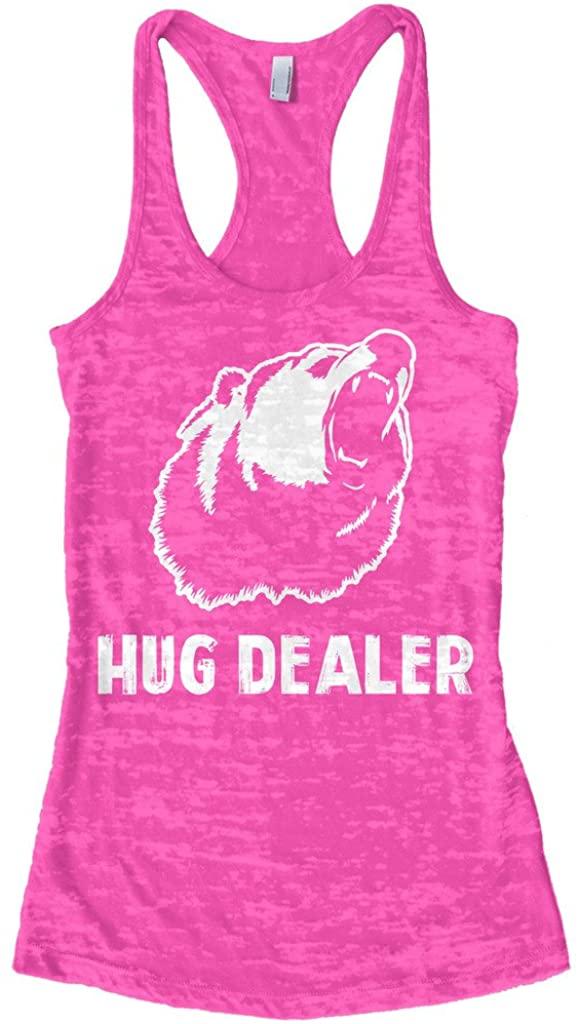 Threadrock Women's Hug Dealer Burnout Racerback Tank Top