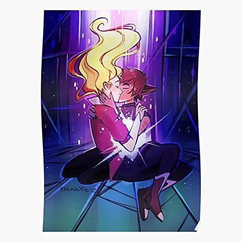 kineticards She Power The Spop of Adora Shera Catradora Princesses Fanart Catra and Ra | Home Decor Wall Art Print Poster