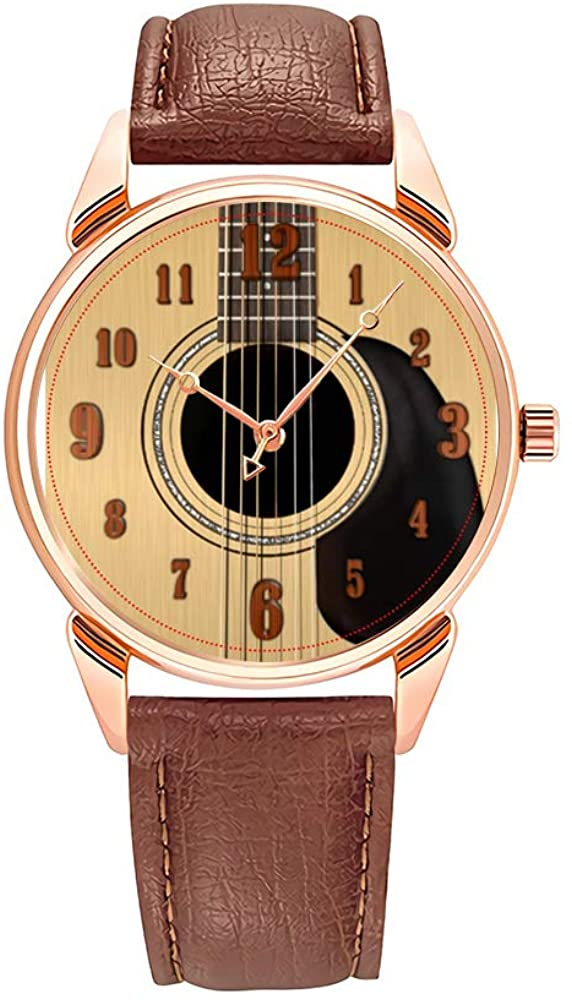 Fashion Quartz Watch Men Watches Top Brand Luxury Male Clock Business Mens Wrist Watch Acoustic guitar'design Wrist Watches