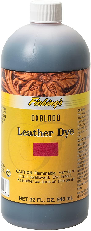 Fiebings FILDYE71P032Z Leather Dye - Oxblood, 32 oz