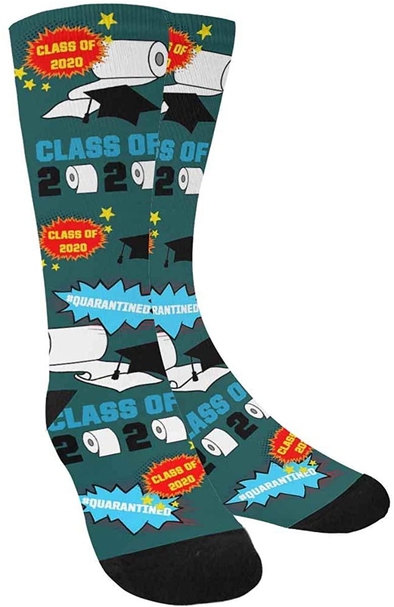 Class of 2020 Socks Toilet Paper Novelty on Socks 2020 Gift Graduation Socks for graduate White