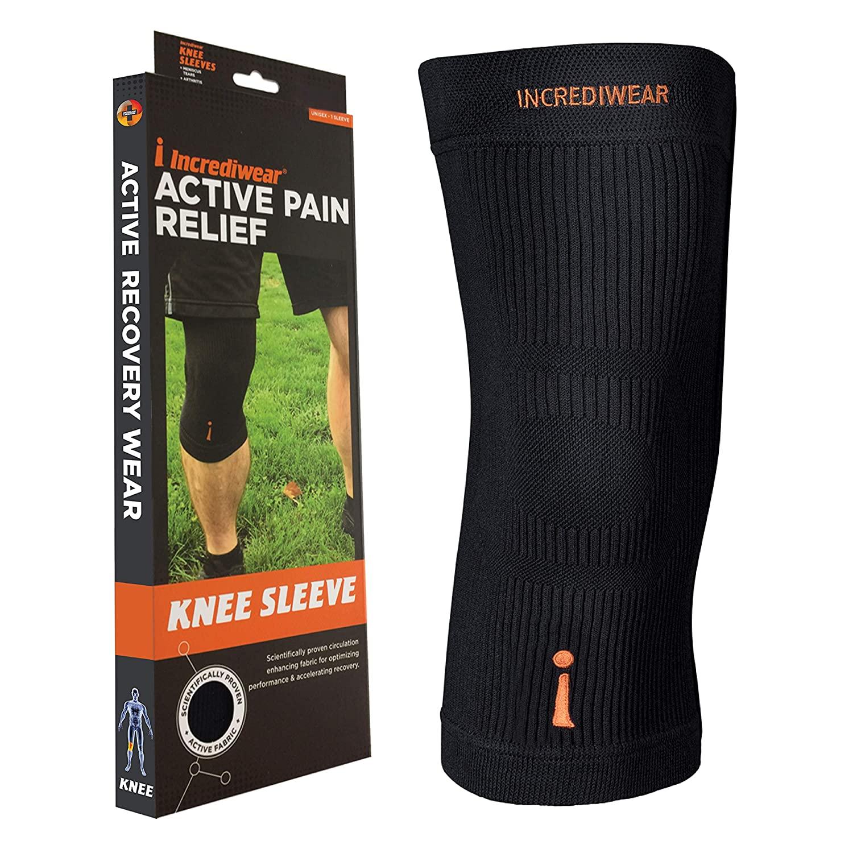 Incrediwear Knee Sleeve, Medium, Black