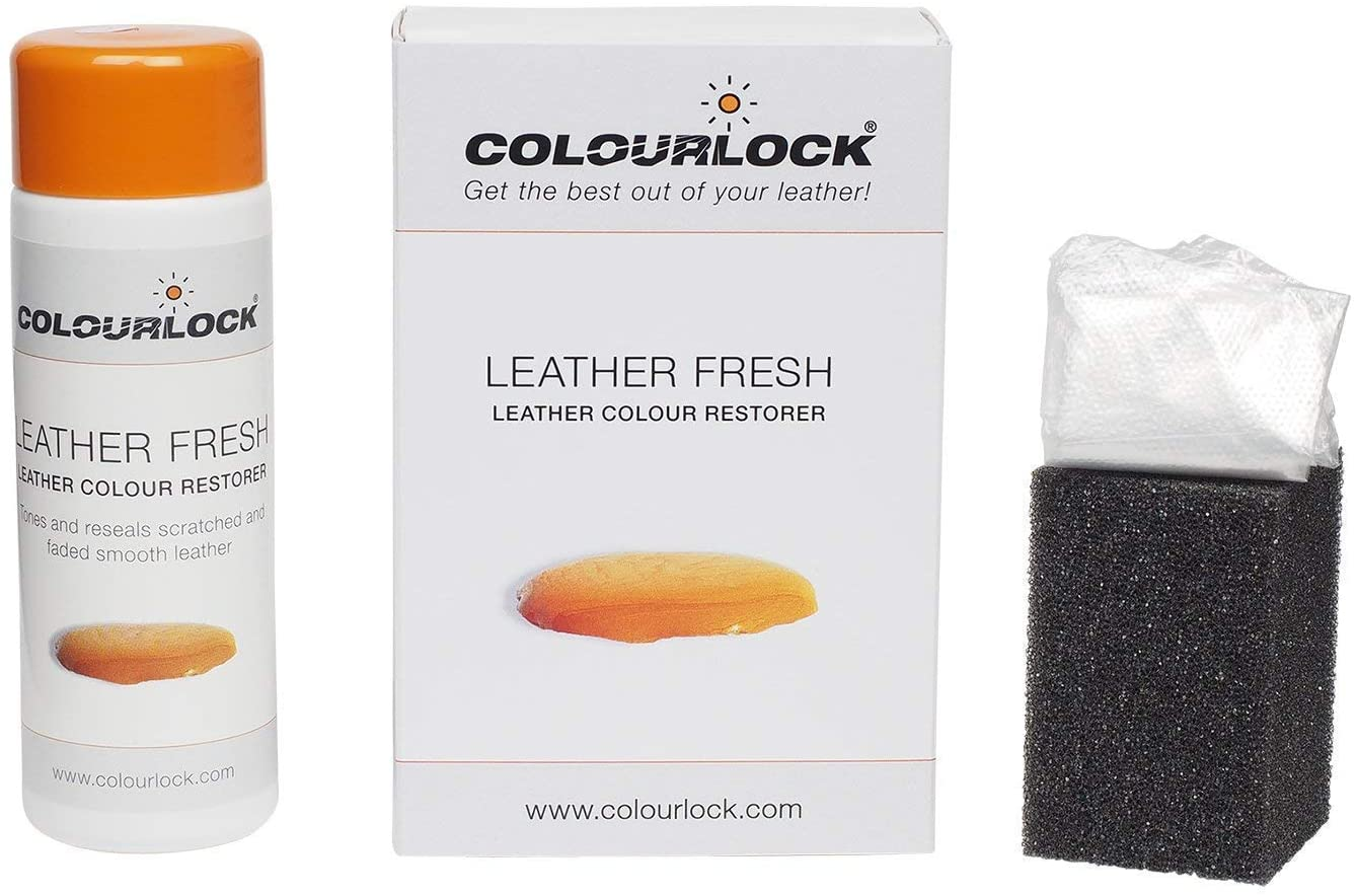 Colourlock Leather Fresh Dye DIY Repair Colour Restorer for Scuffs and Small Cracks on car interiors 150 ml Compatible with BMW Platin