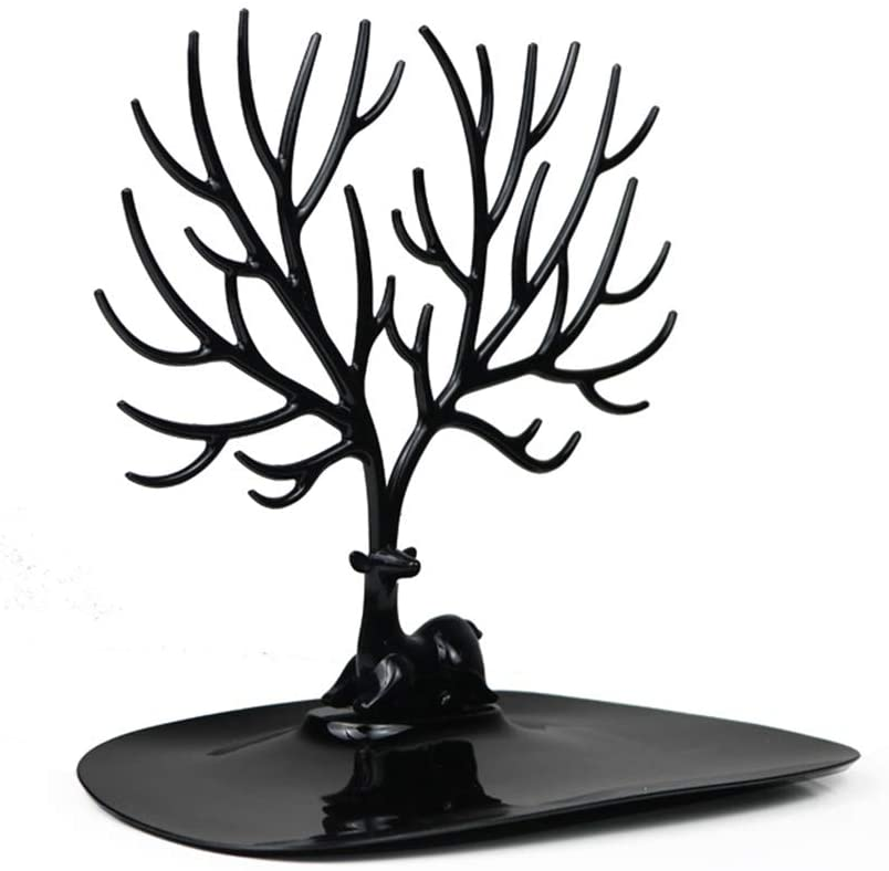 Ablita Jewelry Tree Earrings Necklace Organizer Hanger Display Stand Deer-Shaped Jewelry Stroge Rack for Home Shop Decor