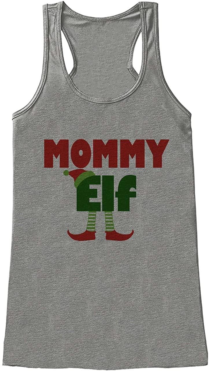 Custom Party Shop Womens Mommy Elf Christmas Tank Top