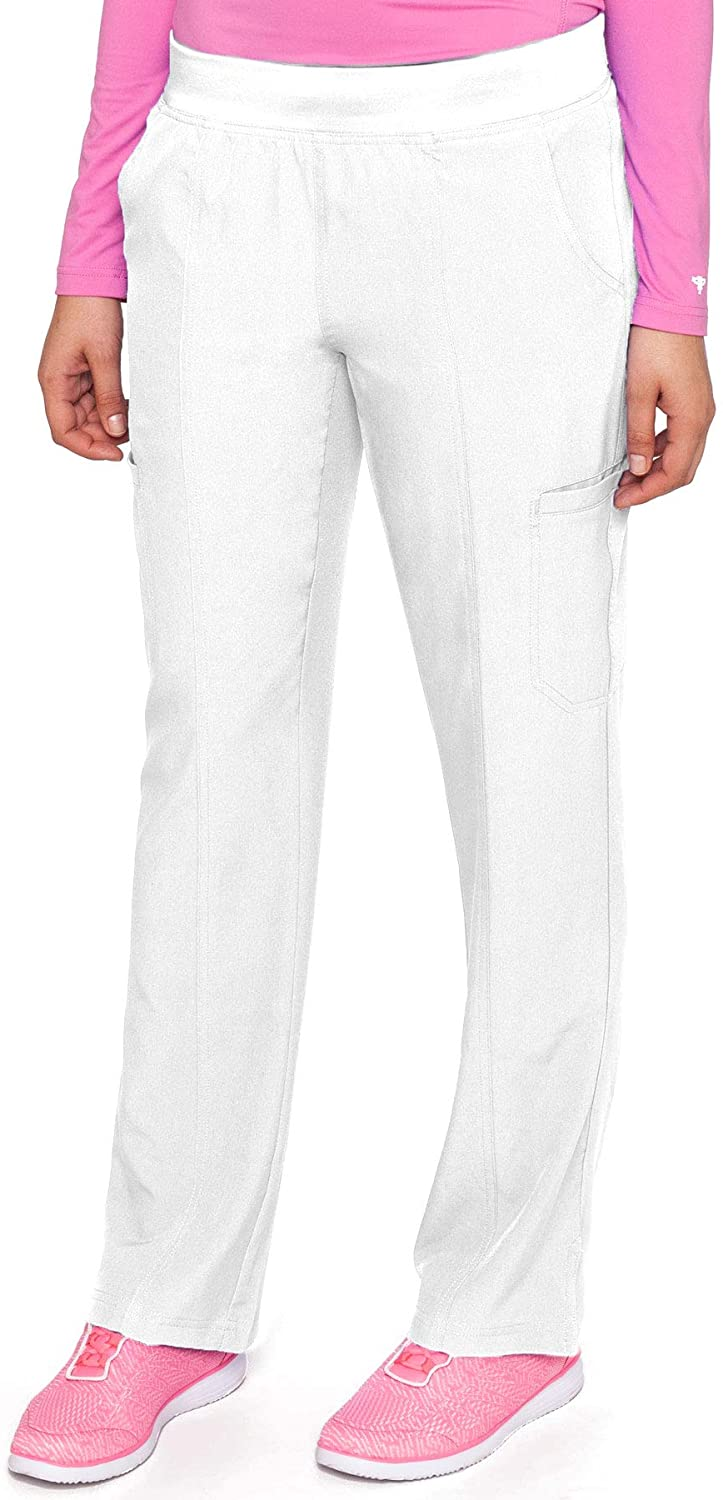 Med Couture Energy Womens Yoga Two Cargo Pocket Pant White LT