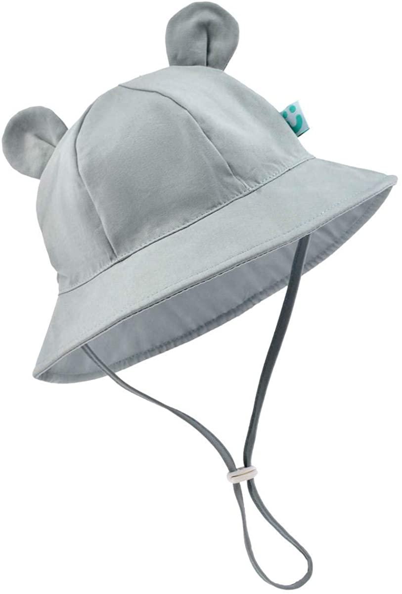 Baby Sun Hat - Infant Kids Boy Girl UPF 50+ Breathable Summer Sun Protection Bucket Hats