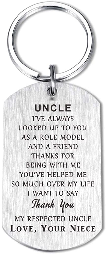 Aunt Uncle Keychain Role Model Favourite Princess Thank You Gifts for Birthday Christmas Thanksgiving From Nephew Niece