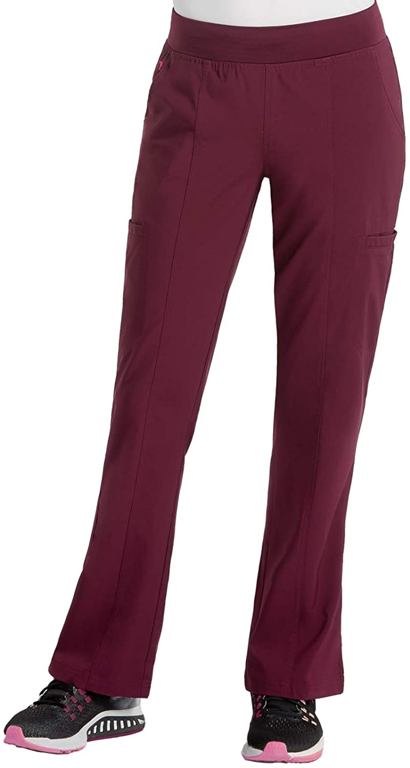 Med Couture Energy Women's Yoga Two Cargo Pocket Pant, Wine, Large