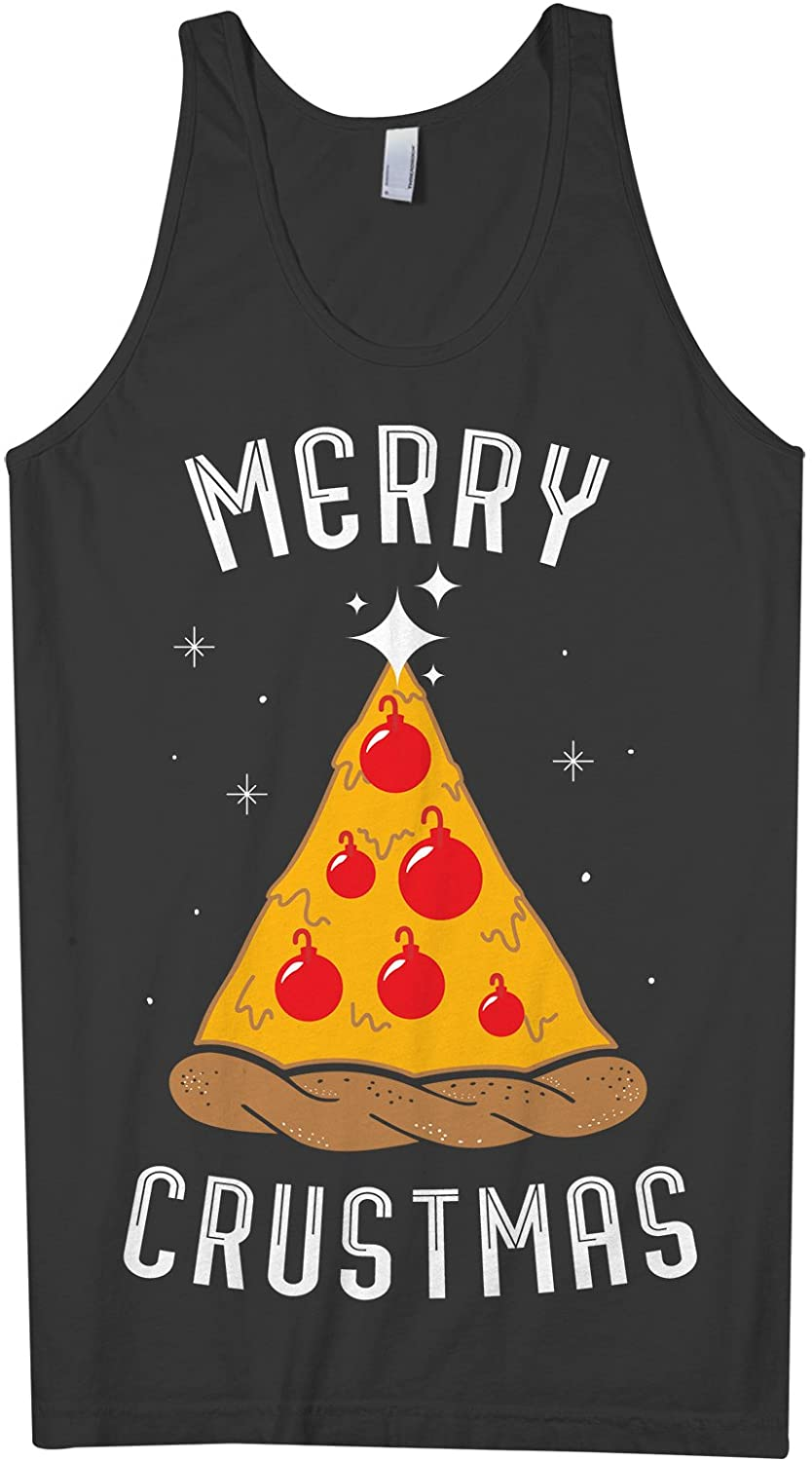 Threadrock Men's Merry Crustmas Pizza Tank Top