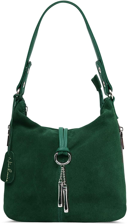 Nico Louise Women Purse Suede Split Real Leather Shoulder Bag Casual Crossbody Hobo handbag