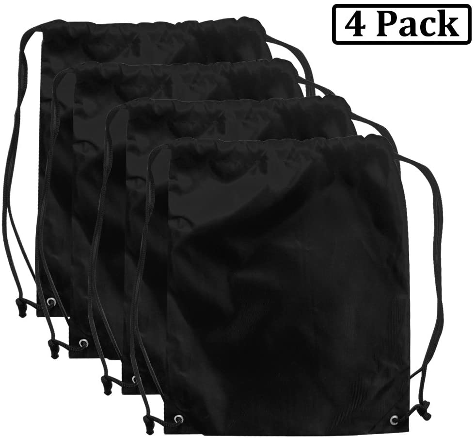 AVESON Pack of 4 Portable Travel Dust-Proof Waterproof Nylon Travel Shoe Organizer Tote Bags w/Drawstring, 15