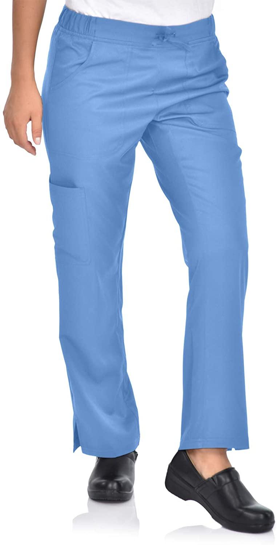 MediChic Mini Marilyn MI1303 Women's Flare Leg Scrub Pant Ceil Blue XL