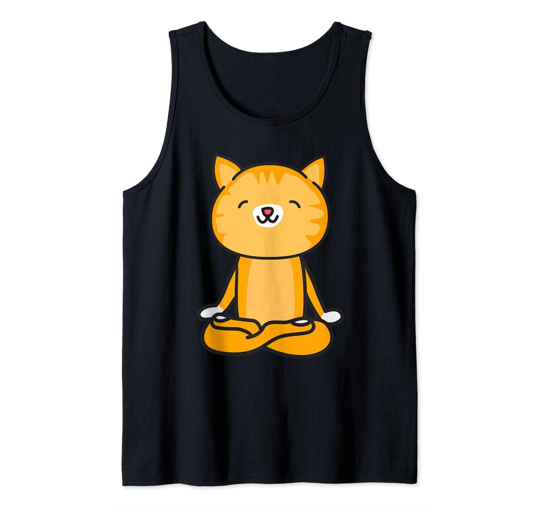 Cat Meditating Funny Cat Meditation Yoga Cute Gift Tank Top