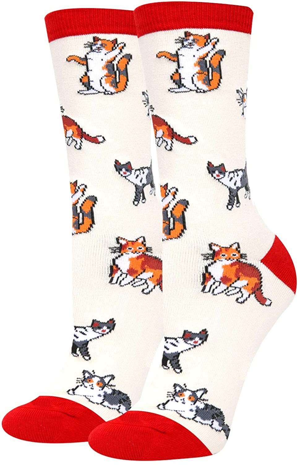 HAPPYPOP Cute Busy Bee Socks, Funny Novelty Honeycomb Bugs Chicken Unicorn Cat Gift for Women Girls