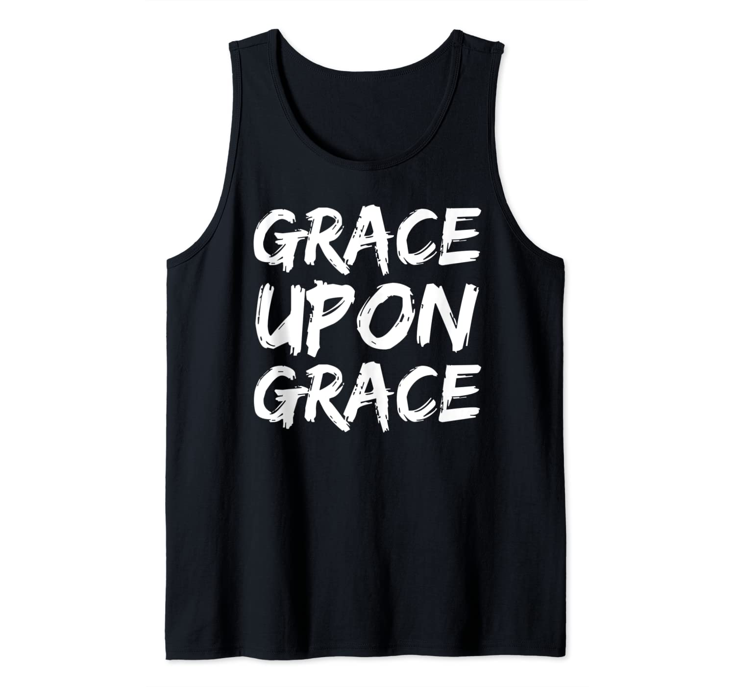 Christian Quote Gift Faith Saying Grace Upon Grace Tank Top