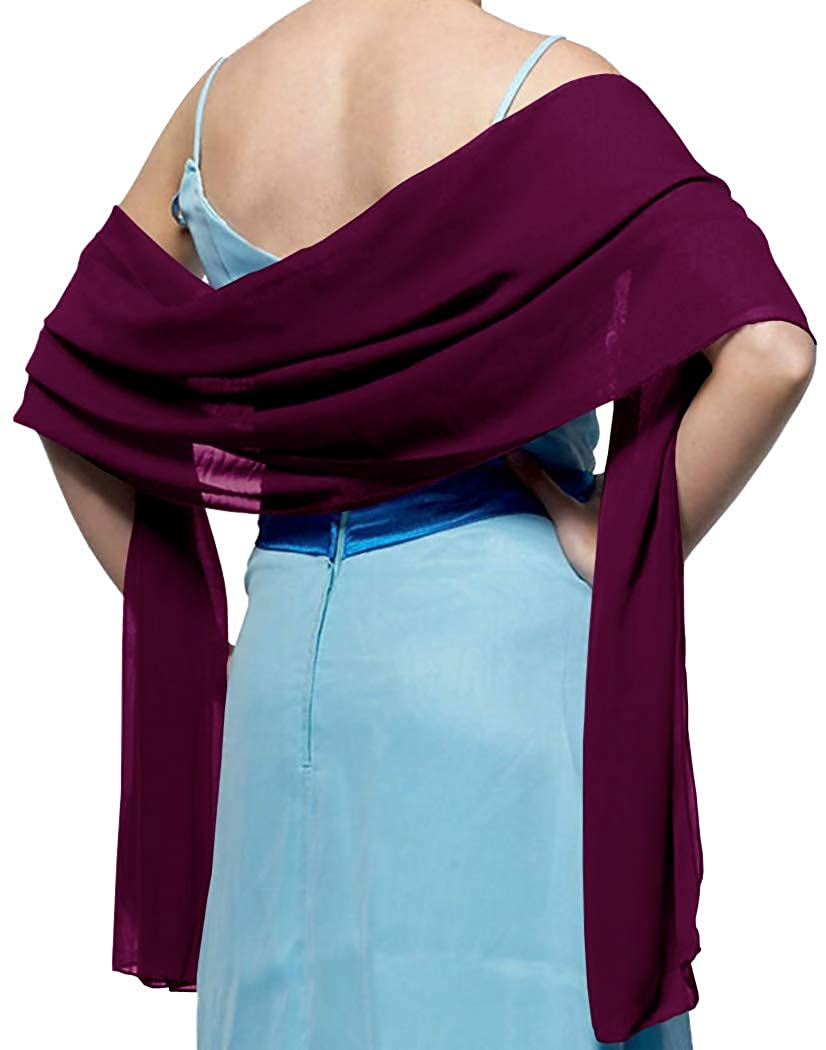 TMS Soft Chiffon Scarf Sheer for Women Cover up Shrug Shawls Beach Wraps Party Scarves