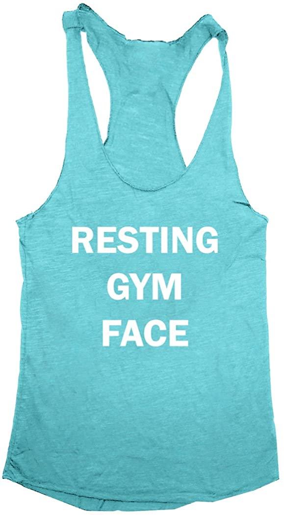 Resting Gym Face Women's Tri-Blend Racerback Tank