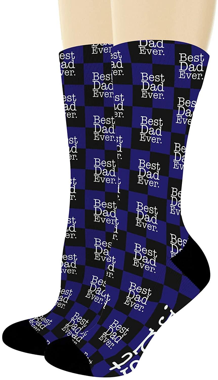 Best Dad Gifts Best Dad Ever Socks Dad Socks for Men Dad Son Dad Daughter Gifts Novelty Crew Socks