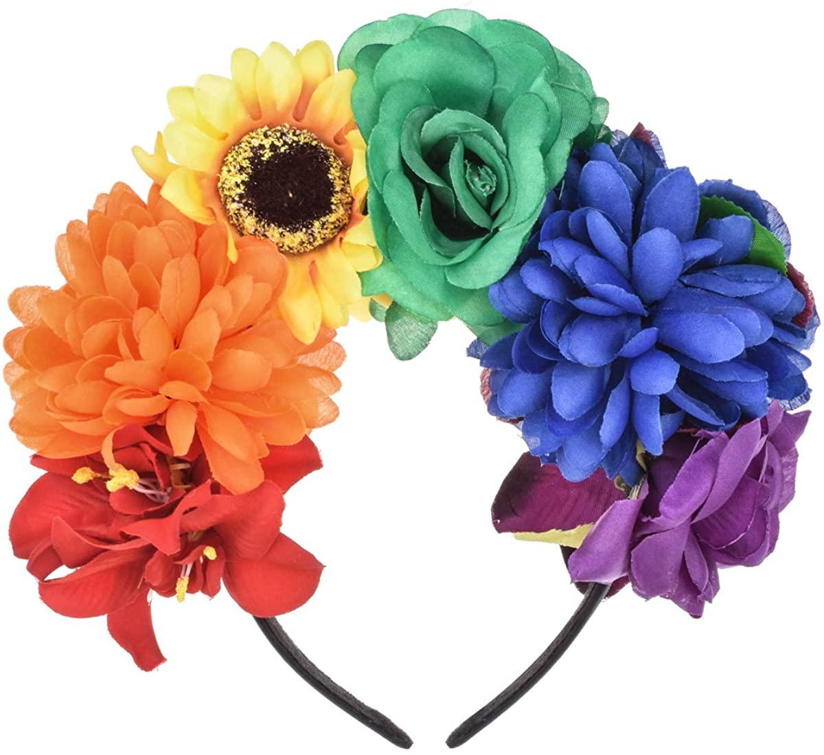 DDazzling Halloween Headband Day of the Dead Headband Floral Headband Festival wear