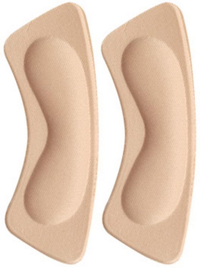 4 Pair Heel Cushions Padded Heel Grips Care Heel Snugs Heel Liners Apricot(E)