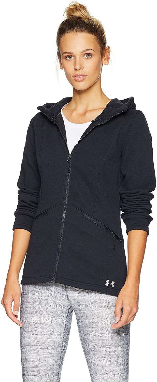 Under Armour Outerwear Women's Dobson Hooded Non-Lam Jacket, Graphite, Medium