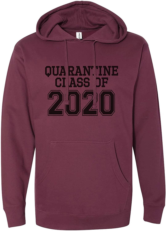 7 ate 9 Apparel Unisex Adult Class of 2020 Quarantine Maroon Sweatshirt