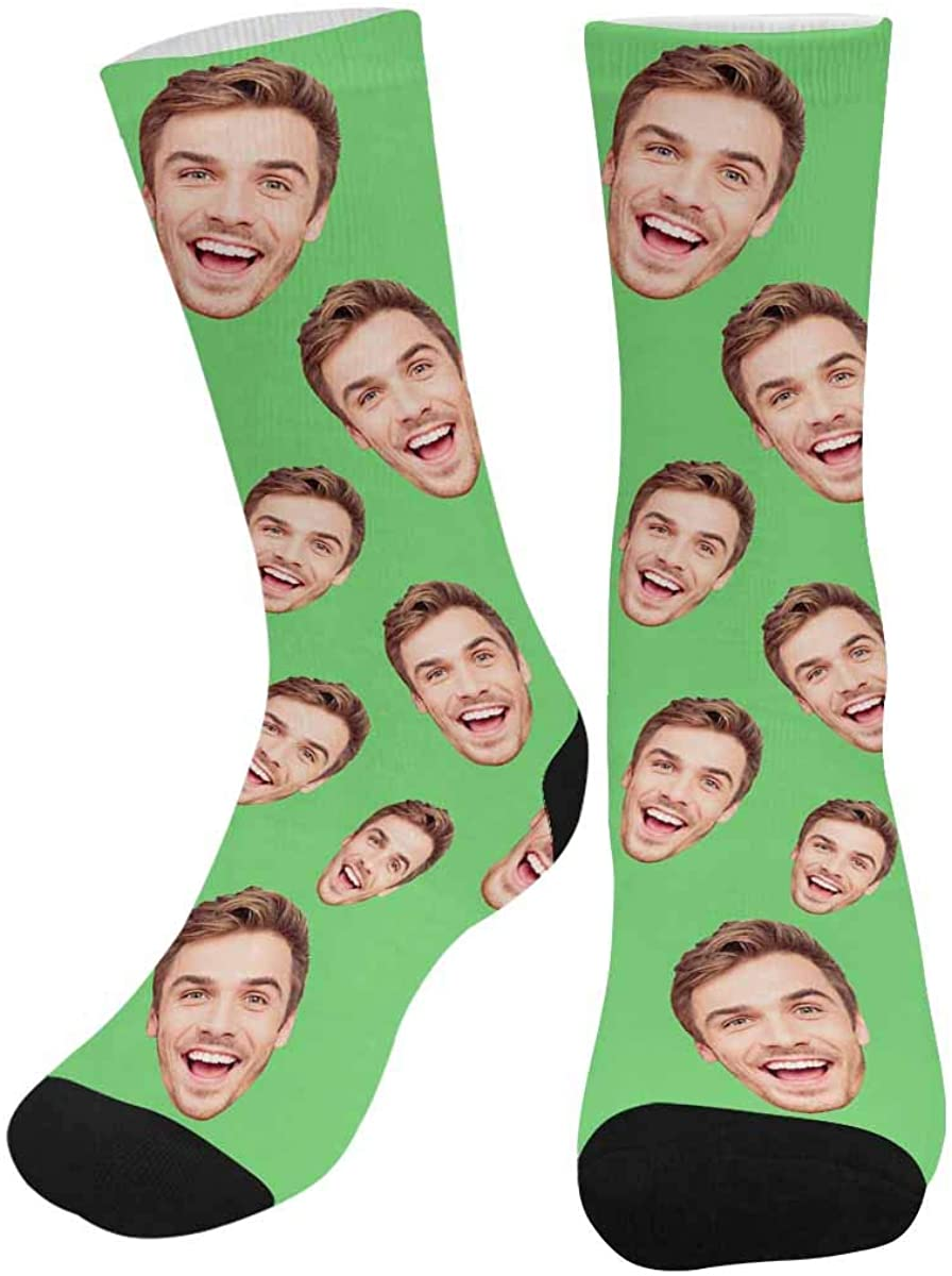 Custom Face Socks, Photo Gift for Father Mother Face Socks, Funny Socks Turn Your Photo into Socks