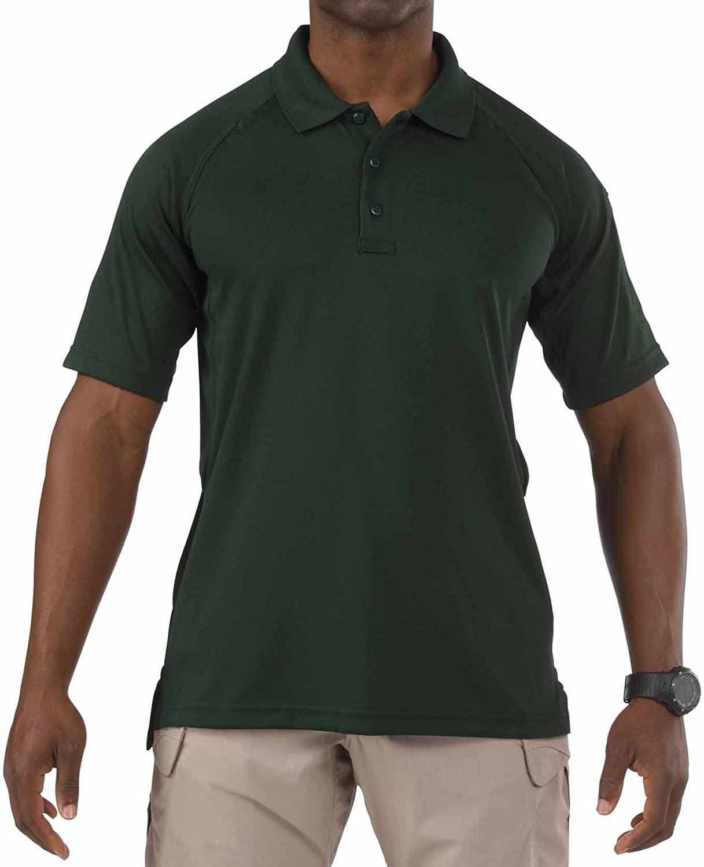5.11 Performance Polo Short Sleeve Shirt,L.E. Green,Medium
