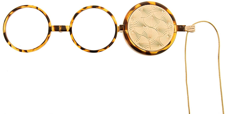 Emily Fan, Neckglasses Pendant, Reading Glasses, Convenient, Superior Chain, Discreet, Easy Care - 1.75 - Gold