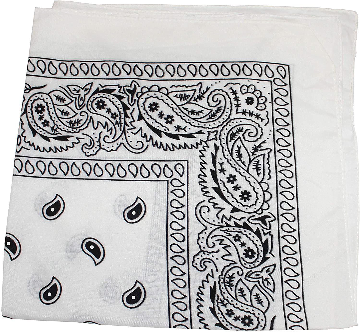 4 Pack X Large Paisley 100% Premium Cotton Double Sided Printed Bandana - 27 x 27 inches