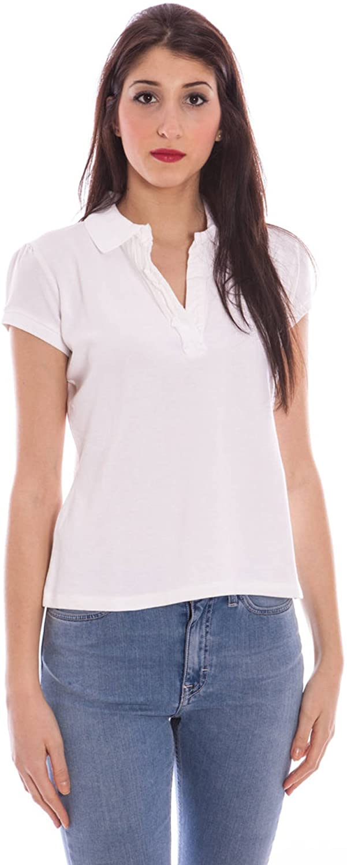 GANT Women's Ruffled Short Sleeve Polo Shirt X-Large White