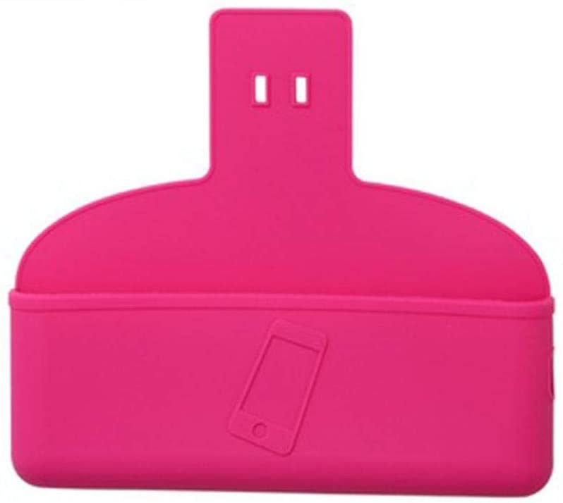 Mobile Phone Storage Bag Organizer Clip Auto Phone Pockets with Charging Port Holder Small Wall Storage Bag Sunglasses Coin Key Card Pen Organization Hooks (Hot Pink)