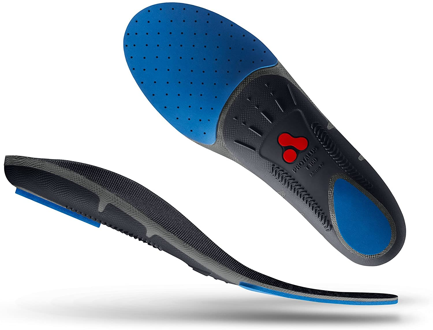 Protalus T100 Thin Series– Patented Stress Relief Replacement Premium Shoe Inserts, Increase Comfort, Anti Fatigue, Alignment Improving Shoe Insoles - for Men Size 9