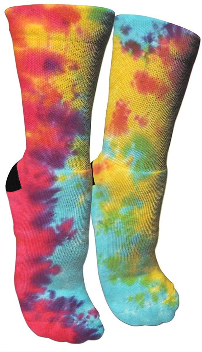 Crazy Socks Tie Dyeing 3D Crew Socks
