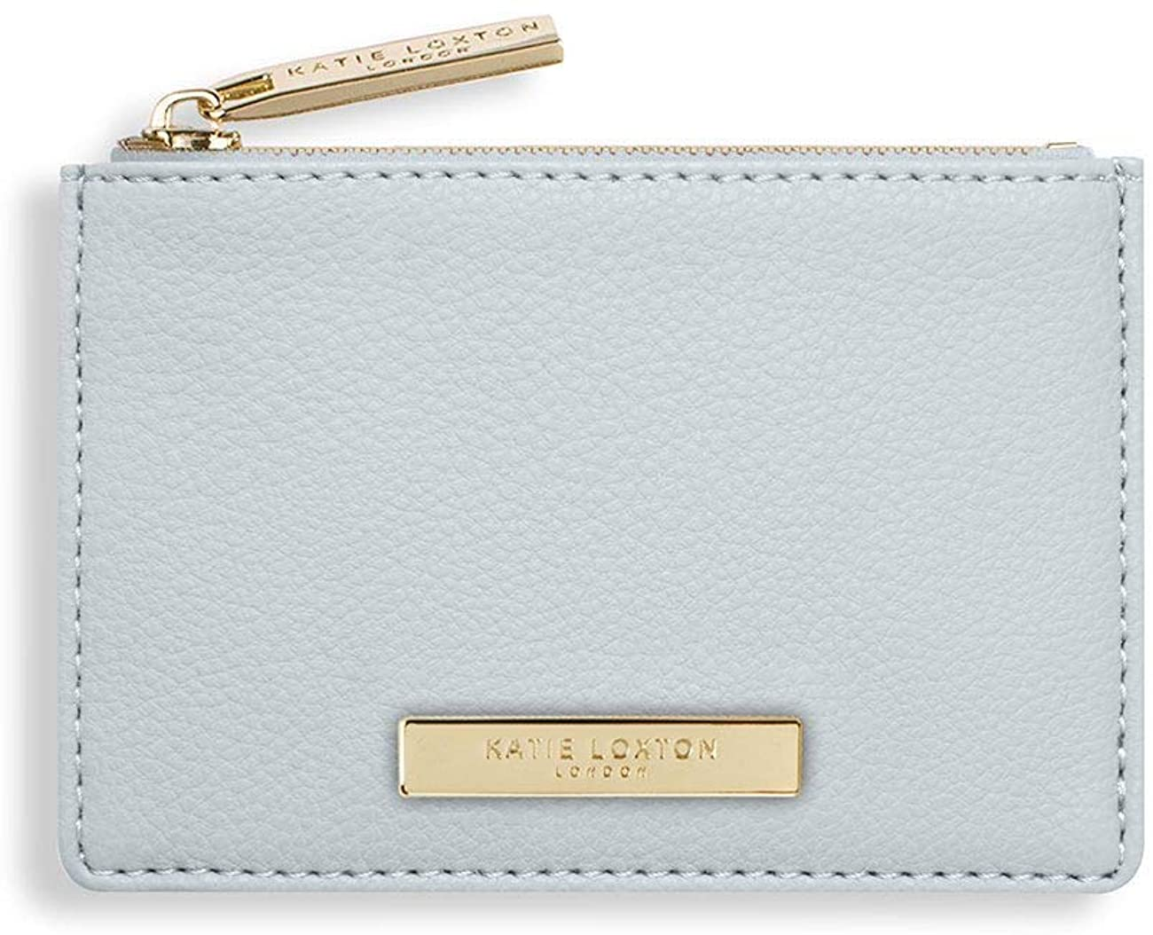 Katie Loxton Alise Womens Small Vegan Leather Zippered Card Holder Wallet