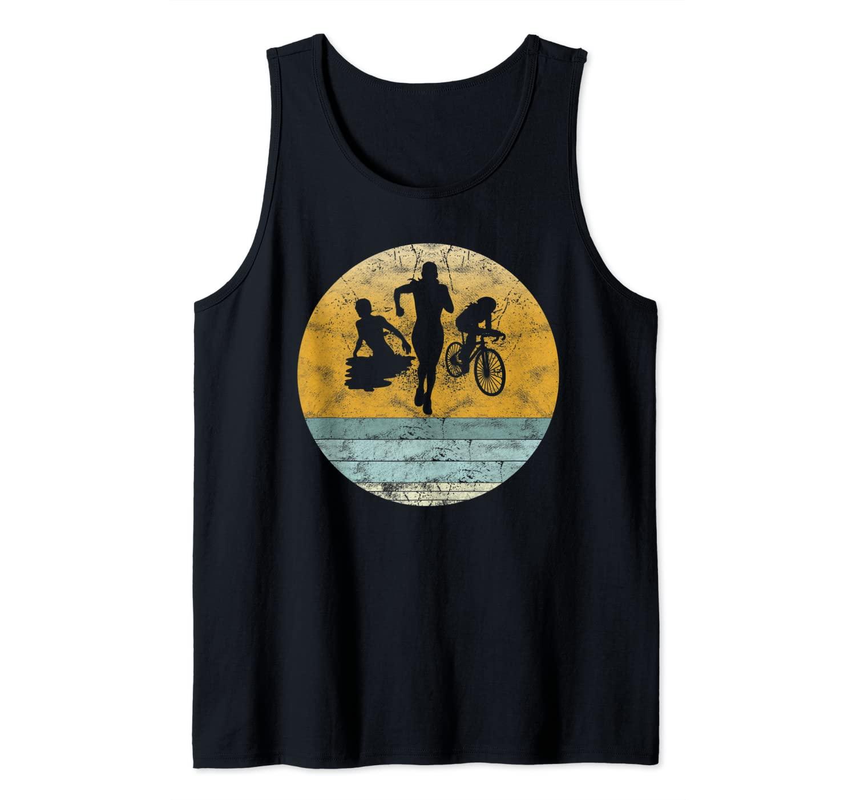 Retro Triathlon Vintage Style Sport Gift for Men & Women Tank Top